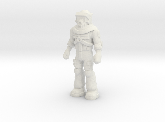 Matt Trakker, Standing 35mm Mini  in White Natural Versatile Plastic