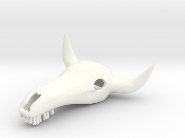 Bull Skull in White Processed Versatile Plastic