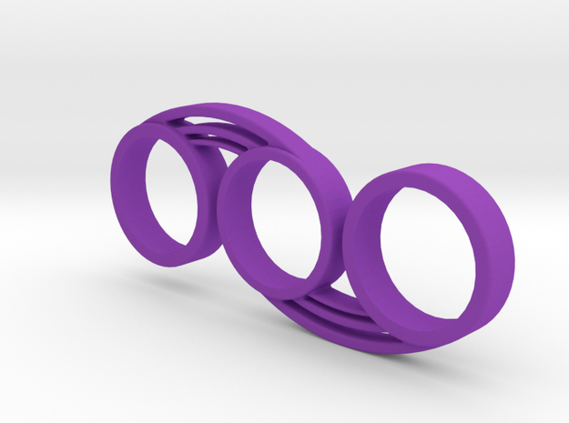Bi-Swirl Fidget Spinner in Purple Processed Versatile Plastic