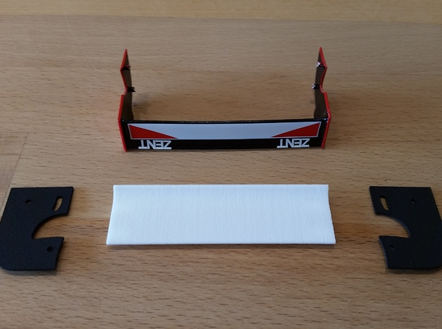 Sideplate Right Toyota GT 1 in White Natural Versatile Plastic