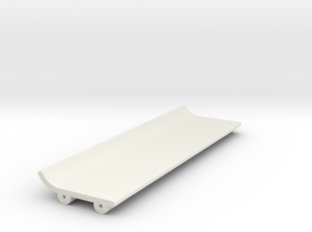 Upper Wing for Toyota GT 1 rear Wing in White Natural Versatile Plastic