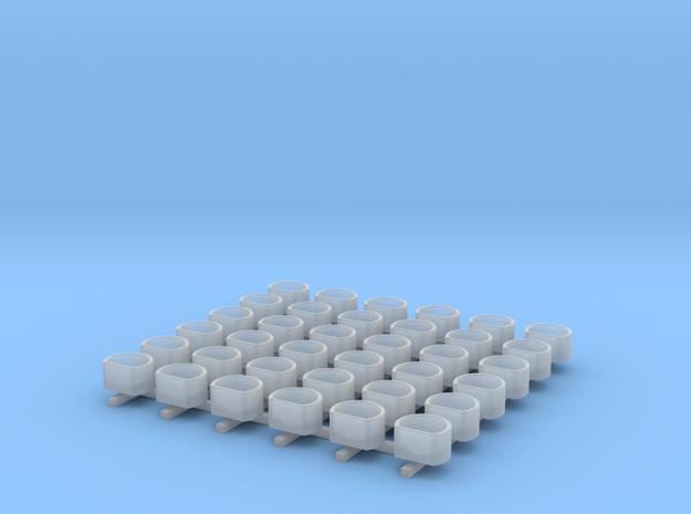 1/700 Oerlikon Tubs Flattened (Stepped Bottom) x36