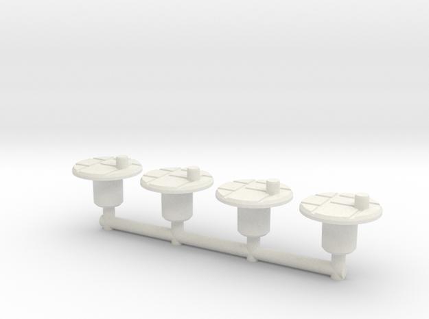 Titan Platforms, Basic, set of 4 in White Natural Versatile Plastic