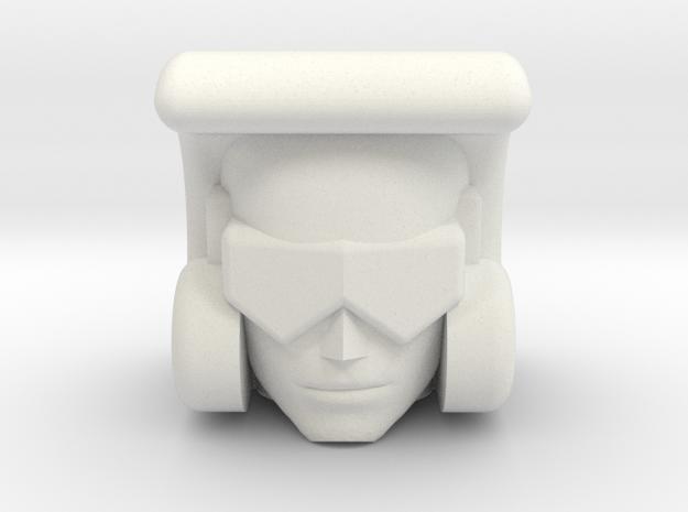 Beachcomber head for OS KO Toyworld Searchlight in White Natural Versatile Plastic