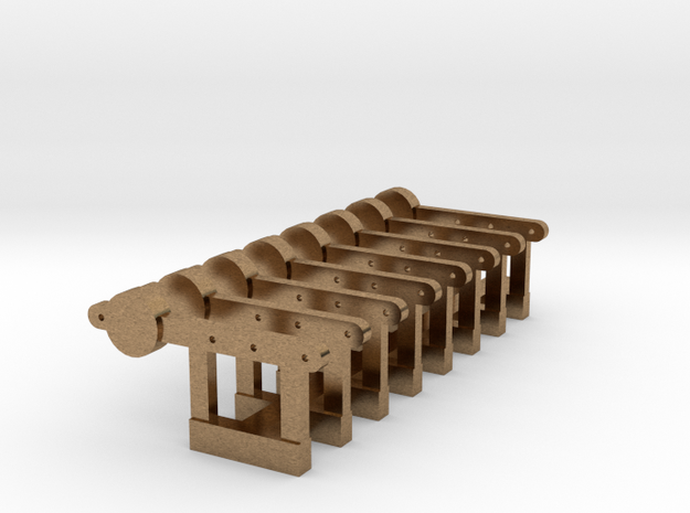 HO Signal Counterweight Levers X 8 - Brass in Natural Brass