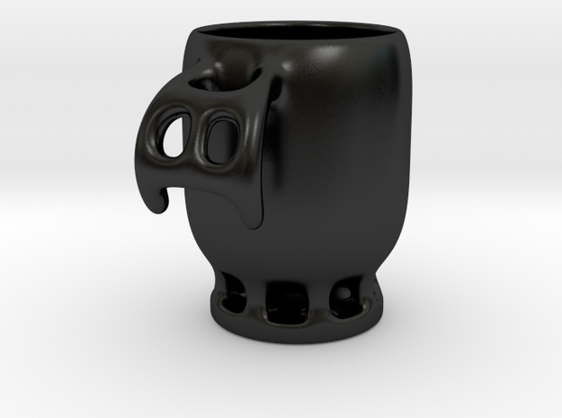 Ghost Coffee Cup in Matte Black Porcelain
