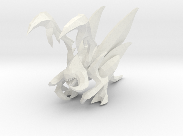 1/60 Wing Zergling in White Natural Versatile Plastic