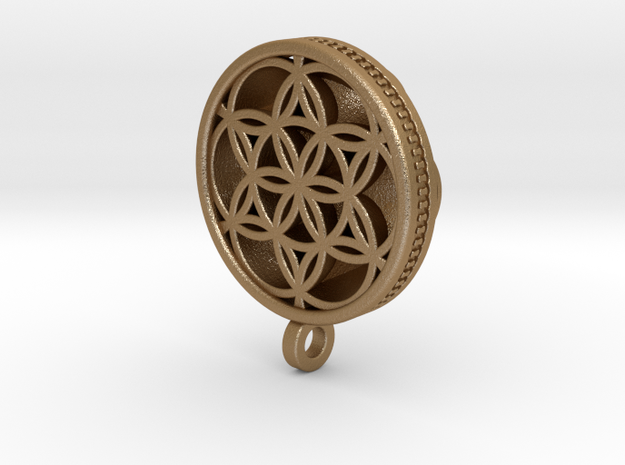 SEED OF LIFE2 in Matte Gold Steel