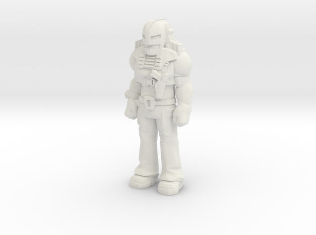 Cliff Dagger, standing, 35mm mini in White Strong & Flexible