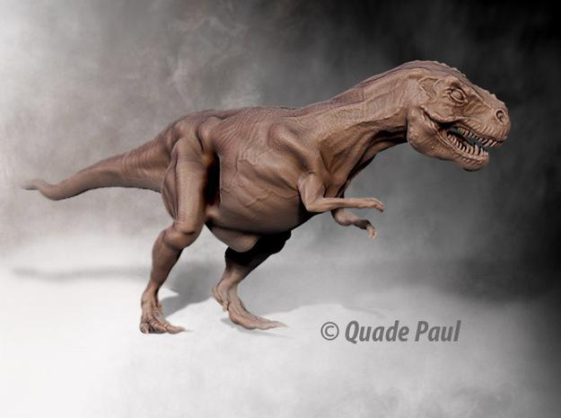 Tyrannosaurus Rex 3d printed render of the Trex