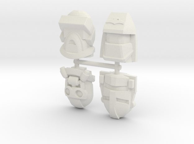 MASK 4-Pack #1 (Titans Return) in White Natural Versatile Plastic