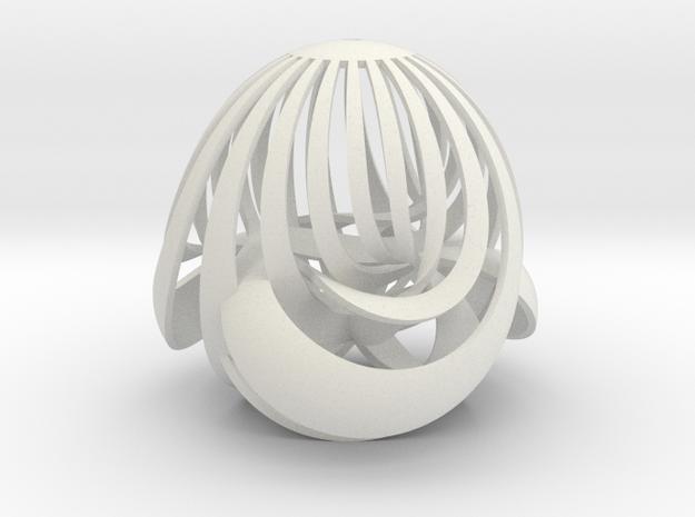 Boy Surface, stripes version in White Natural Versatile Plastic