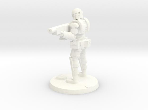 36mm Heavy Armor Trooper 2 in White Processed Versatile Plastic