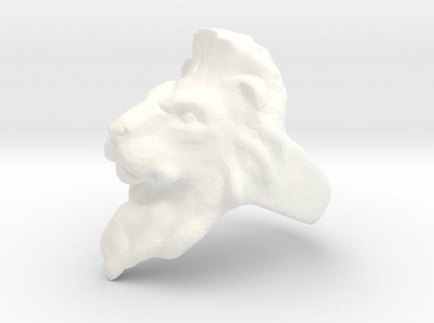 Lion Ring 19.82mm (size 10) in White Processed Versatile Plastic
