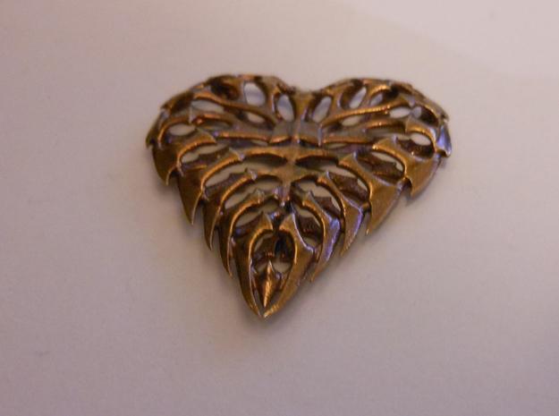 Heart 02 Brass Ready 3d printed