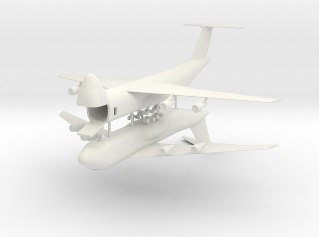 1/350 C-5 Galaxy (x2) in White Natural Versatile Plastic