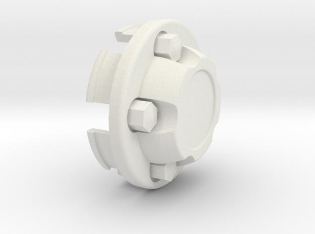 1:10 Flat Five Hubcap in White Natural Versatile Plastic
