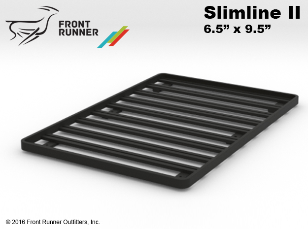 "FR10006 Front Runner Slimline II Rack 6.5"" x 9.5"" in Black Natural Versatile Plastic"