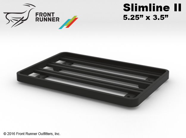 "FR10007 Front Runner Slimline II Rack 5.25"" x 3.5"" in Black Natural Versatile Plastic"