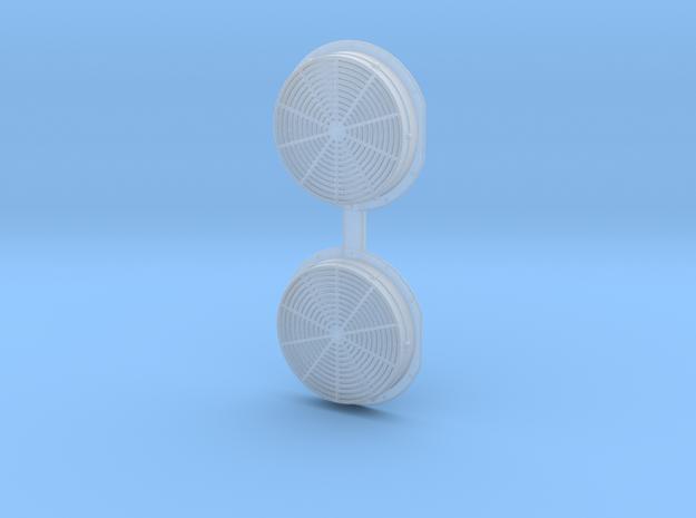 2 x EMD Dash 2 Radiator Fan 1:64 S Scale in Smooth Fine Detail Plastic: 1:64 - S