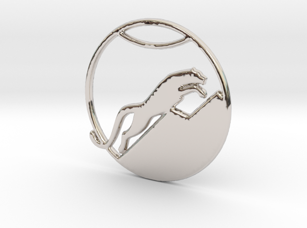 The Snow Leopard Necklace in Rhodium Plated Brass
