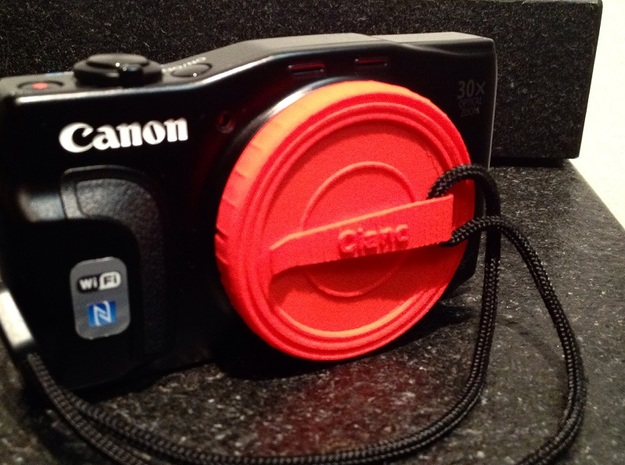 Canon Cap - 58mm (with clip) in Red Strong & Flexible Polished