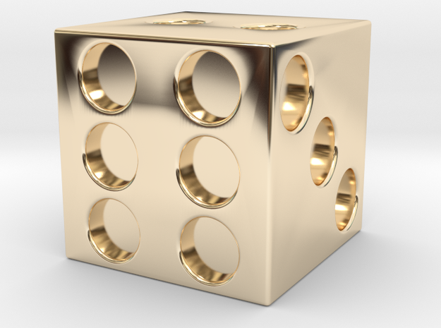 DICE in 14k Gold Plated