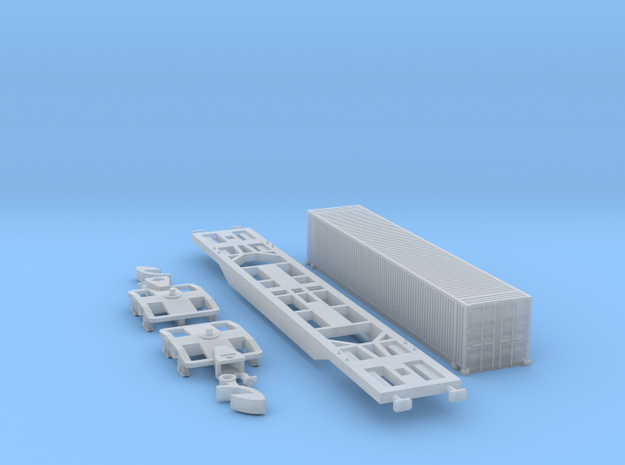 Containertragwagen Sgnss mit 45ft Container in Smooth Fine Detail Plastic