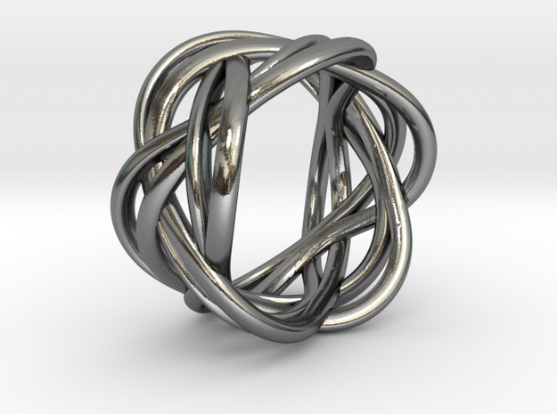 Ring of Streams in Polished Silver