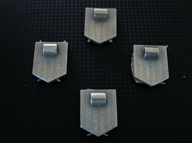 Attack On Titan Emblem - The Garrison 3d printed This shows the loops on the back of the emblems, for inserting a chain/cord or safety pin.NOTE: You only receive one emblem with this item.