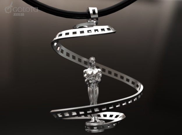 Oscar Cinema Pendant in Polished Gold Steel