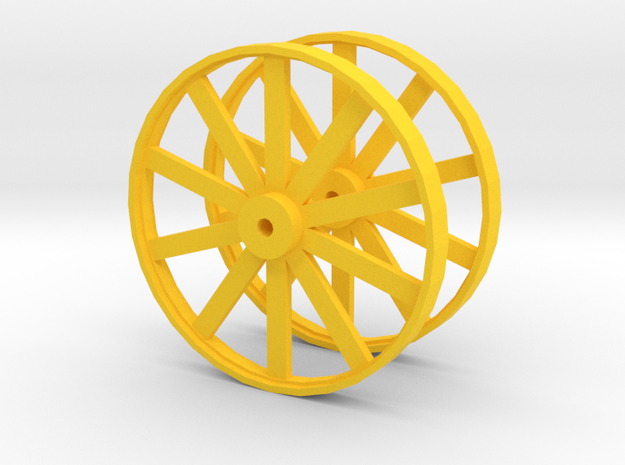 Wheels For Hot Dog Cart in Yellow Strong & Flexible Polished
