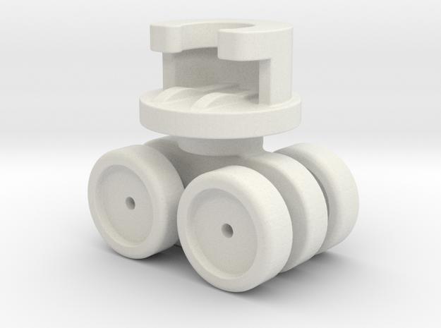 Ikea VIDGA 146961 (Plastic axle version) in White Natural Versatile Plastic