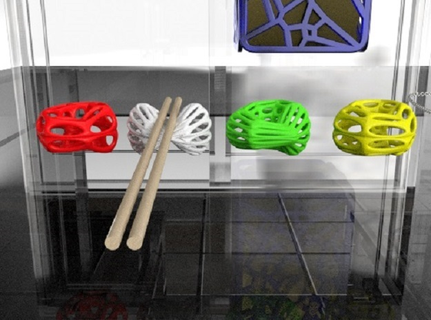 Klein Chopstick Rest (003) in Blue Strong & Flexible Polished