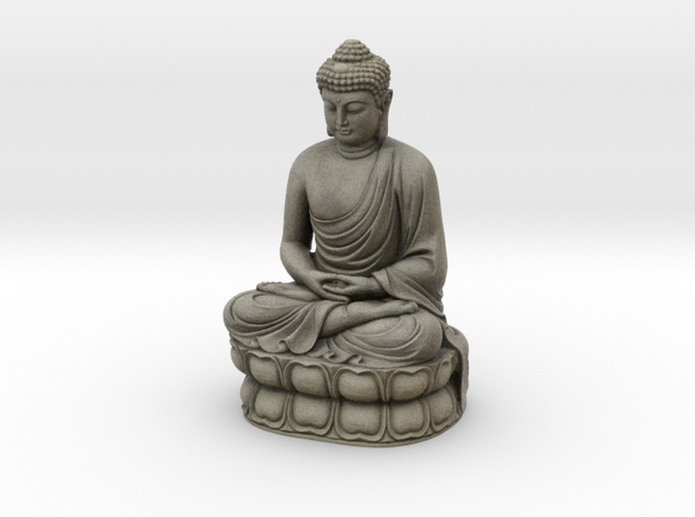 Gautama Buddha  in Full Color Sandstone
