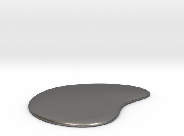 Liquid Drop Medium 3.7x4.5 cm in Polished Nickel Steel