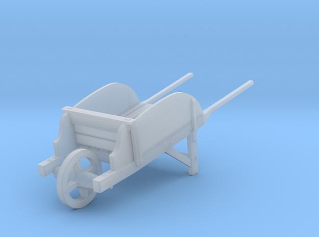 18th Century Wheelbarrow w/ Sides 1/24 in Smooth Fine Detail Plastic