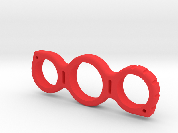 Dime Fidget Spinner in Red Processed Versatile Plastic