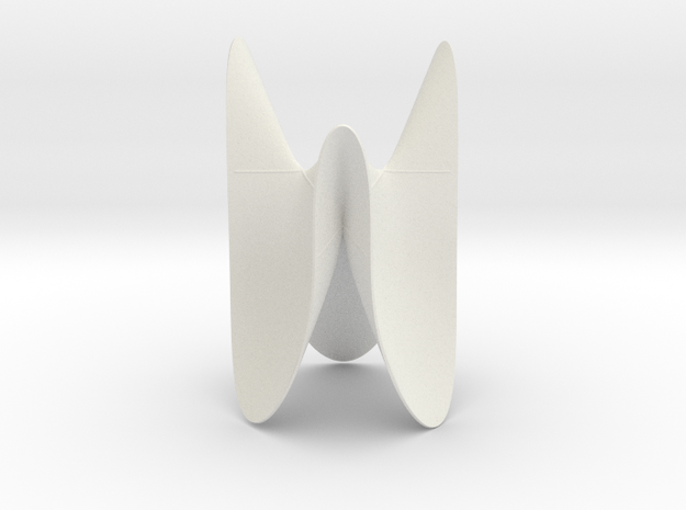 Cubic KM 16 cylinder cut with lines in White Natural Versatile Plastic