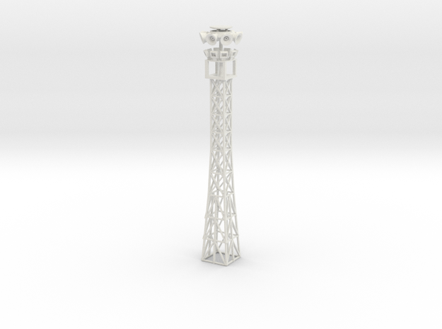light tower with holes for leds to be installed in White Natural Versatile Plastic