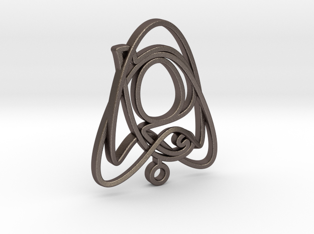 Celtic Knot in Polished Bronzed Silver Steel