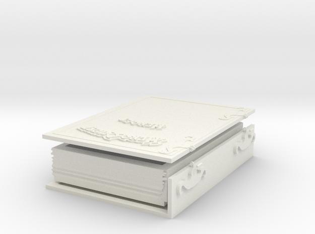 Secret Book for Heroquest in White Natural Versatile Plastic