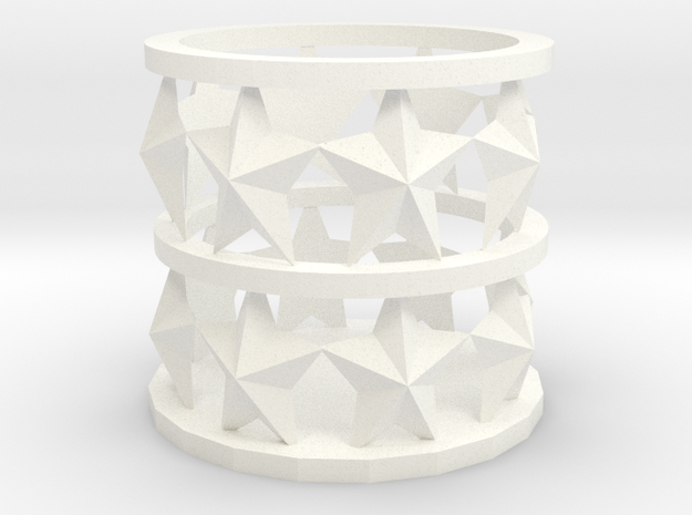 star candle Holder in White Processed Versatile Plastic