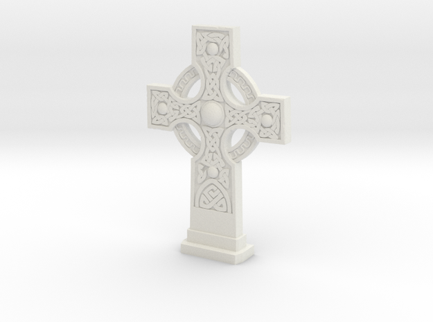Gravestone Celticcross1 in White Natural Versatile Plastic