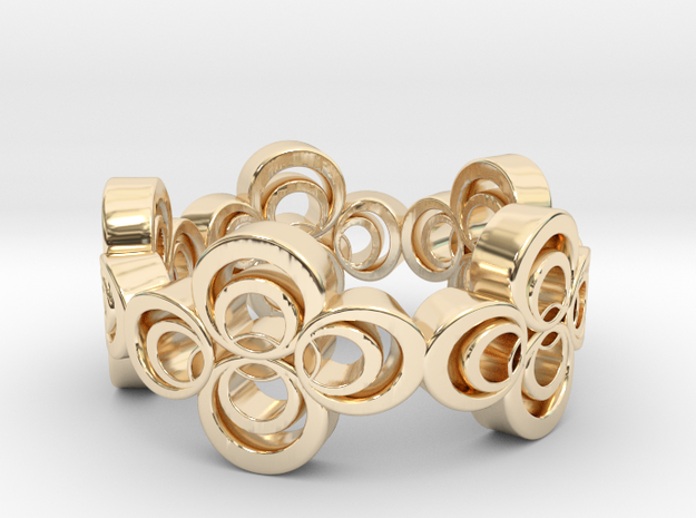 Nouveau Ring 2: Four Leaf Clover in 14k Gold Plated