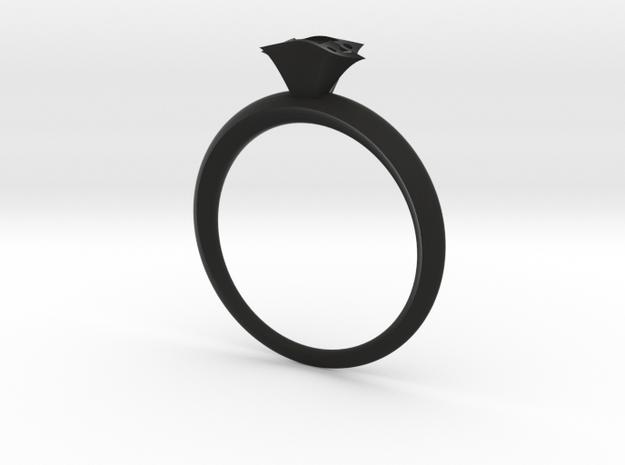 Royal shaton ring in Black Natural Versatile Plastic