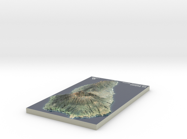 La Palma Map, Canary Islands - Large in Coated Full Color Sandstone
