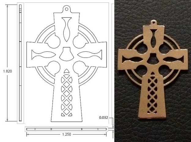 Cross Cut Out Style with Shell in Natural Bronze
