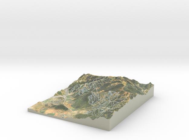 Park City Ski Map, Utah in Coated Full Color Sandstone