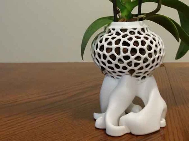 Smaller Orchid Vase in White Strong & Flexible: Small